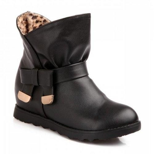 Stylish Bow and Metallic Design Women's Boots
