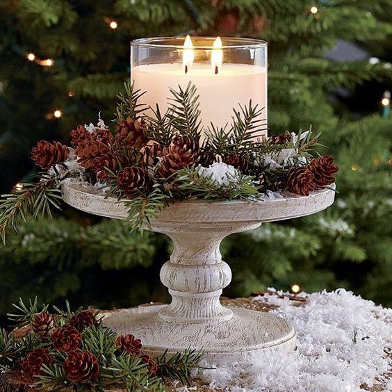 Vela decorativa para Navidad