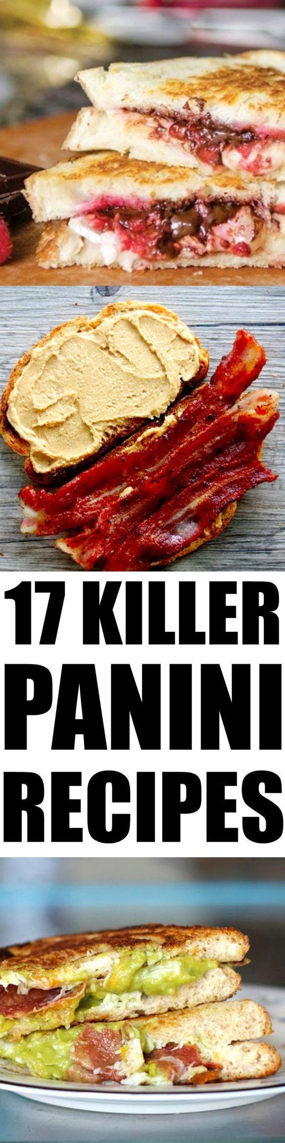 17 killer panini recipes #lunchideas #recipes #paninis