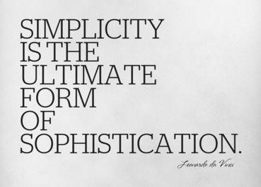 Simplicity by Da Vinci
