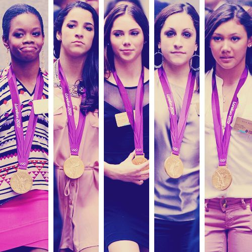 Fierce Five and their golds