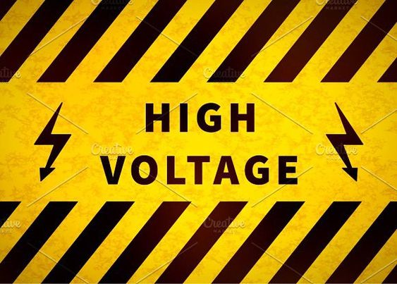 High Voltage Warning Plate With Images High Voltage High Plates