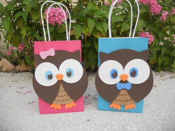 Owl Birthday Party Bag: