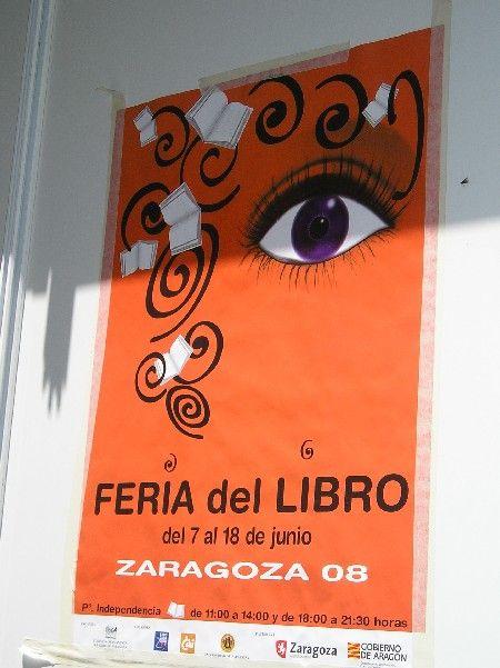 Cartel de la Feria del Libro de Zaragoza 2008: