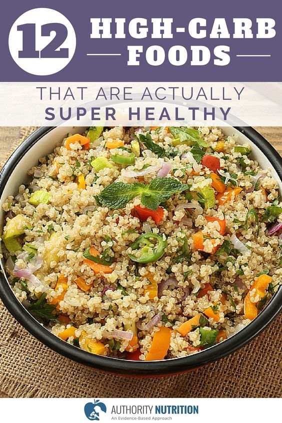 Not all carbs are equal, and some of the world's healthiest foods contain carbs. Here is a list of 12 high-carb foods that are actually super healthy: http://authoritynutrition.com/12-healthy-high-carb-foods/