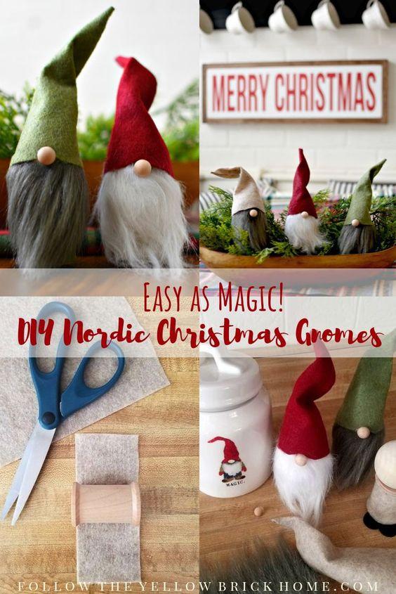 DIY Nordic Christmas gnomes DIY holiday gnomes DIY scandinavian gnomes DIY Swedish gnomes