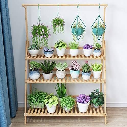 Stand For Hanging Plants Plant Decor Indoor Plant Shelves Outdoor Plant Stand Decor