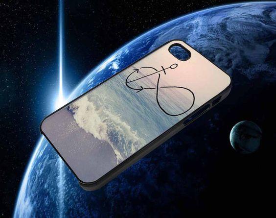 anchor infinity ocean beach 4/4s,5/5s/5c, Samsung Galaxy s3/s4 Case
