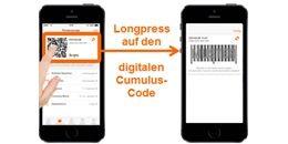 Die neue QR-Code-Funktion in der Migros-App funktioniert auf dem iPhone nicht. Migros empfiehlt, stattdessen den Strichcode zu nutzen.