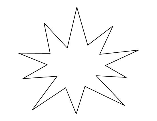Starburst Pattern. Use The Printable Outline For Crafts