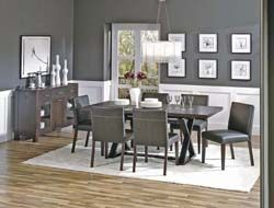 Dining room gray walls