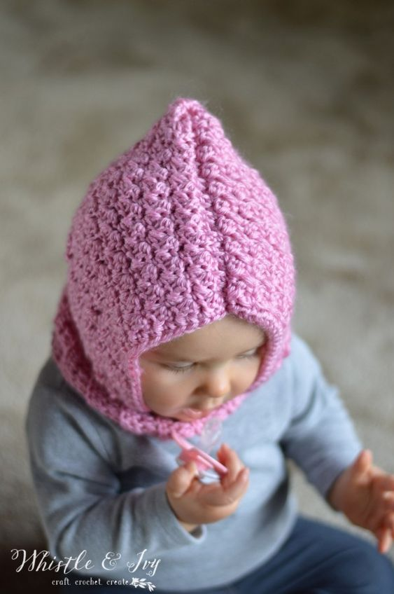 Crochet Baby Cowl Pattern Free : Crochet Baby Hooded Cowl Crochet baby, Spikes and Middle