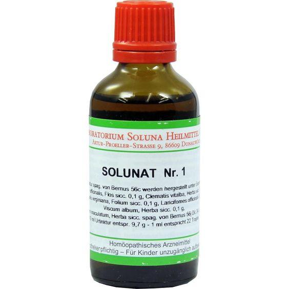 SOLUNAT Nr.1 Tropfen:   Packungsinhalt: 50 ml Tropfen PZN: 02937337 Hersteller: Laboratorium Soluna Heilmittel GmbH Preis: 10,82 EUR…