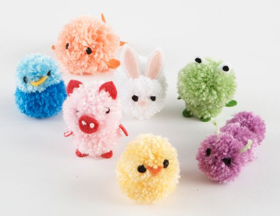 Pom pom animals pattern crafts yarns patterns and search for Pom pom craft patterns