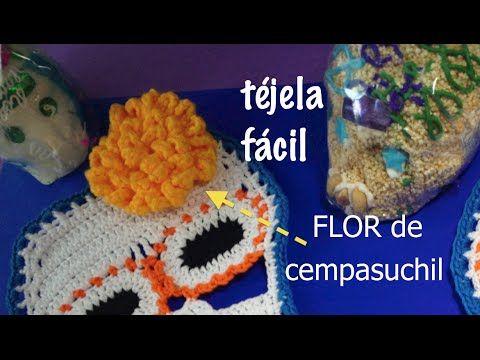 Flor de Cempasuchil #Ganchillo #Crochet, cómo tejerla, DIY - YouTube