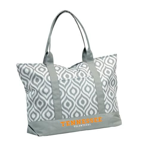 Tennessee Volunteers Vols UT Tote Bag Gray Ikat Luggage Bag
