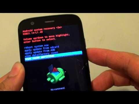Motorola Moto G How To Wipe Cache Partition Youtube Wipes Motorola How To Apply