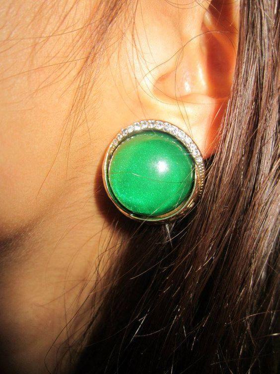 Orecchini verde smeraldo