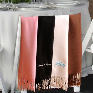 Personalized Pashmina Scarf from Wedding Favors Unlimited