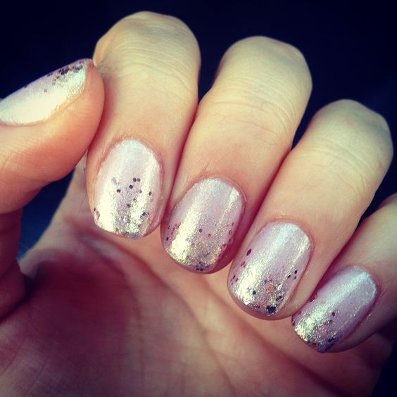Sparkle tipped nails! #nails #nailpolish #sparkles