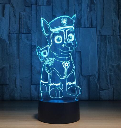 3d Visual Illusion Transparent Acrylic Led Night Light Color Changing Lamp Color Changing Lamp Led Night Light Visual Illusion