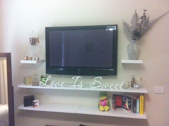 40 Details Of Tv Stand Ideas For Living Room Mounted Tv Floating Shelves Home Design Reviews Shelves Under Tv Tv Shelf Modern Shelf Design