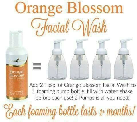 Orange Blossom Facial Wash Essential Oils Face Wash Essential