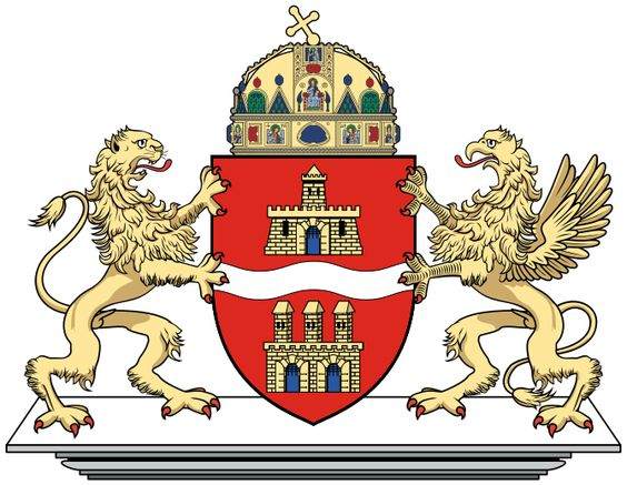 The coat of arms of Budapest