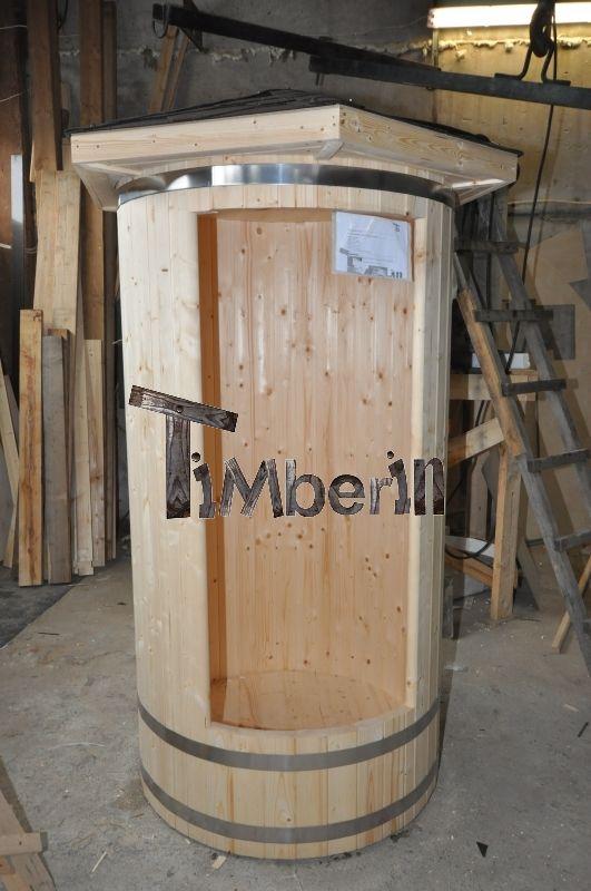 Interieur and produits et technologie on pinterest - Douche exterieure bois ...