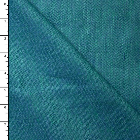 Cali Fabrics - Teal and Green Two-tone Iridescent Linen, $11.75 (http://www.califabrics.com/teal-and-green-two-tone-iridescent-linen/):