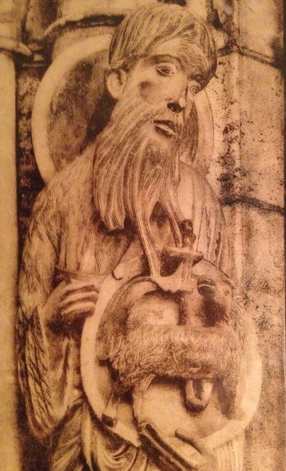 Chartres -North Gate sculpture - Saint John the Baptist.
