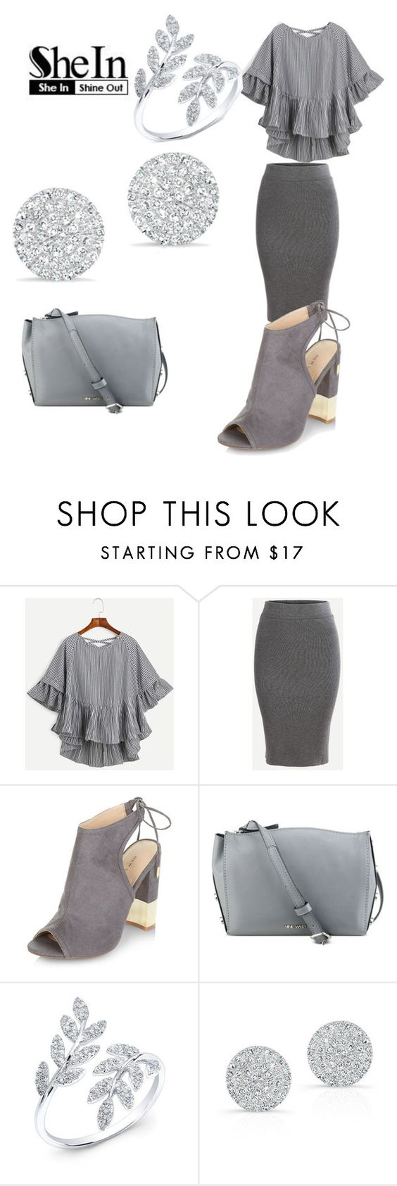 """""""Shein 9/14"""" by shannongarner ❤ liked on Polyvore featuring New Look, Nine West and Anne Sisteron"""