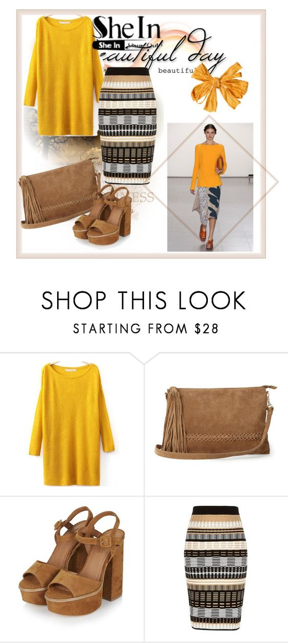 """""""yellow sweater"""" by anadela-galamic ❤ liked on Polyvore featuring Paul Smith, Warehouse, Topshop and River Island"""