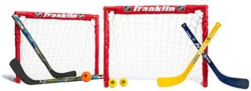 Amazon Com Franklin Sports Kids Folding Hockey 2 Goal Set Nhl Street Hockey Knee Hockey Includes 2 Adjusta Street Hockey Franklin Sports Hockey Stick