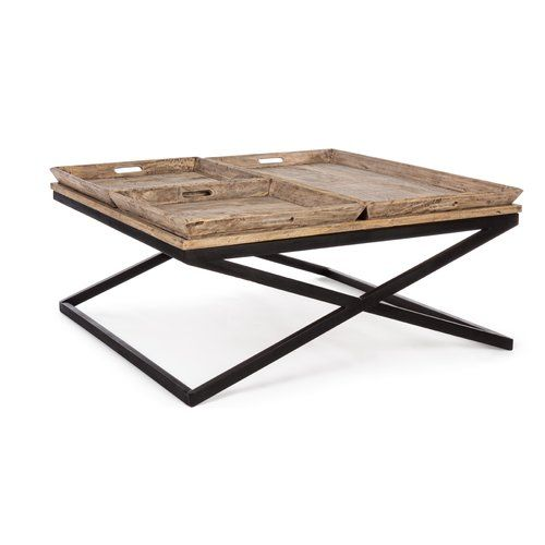 Williston Forge Tyra Coffee Table With Tray Top Antique Coffee