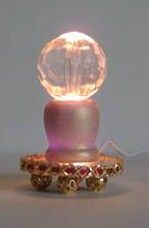 how to: electrified crystal ball (or could be modified for lamp)