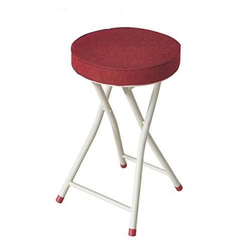 Folding Stool Home Office Simple Portable Chair High Stool Small