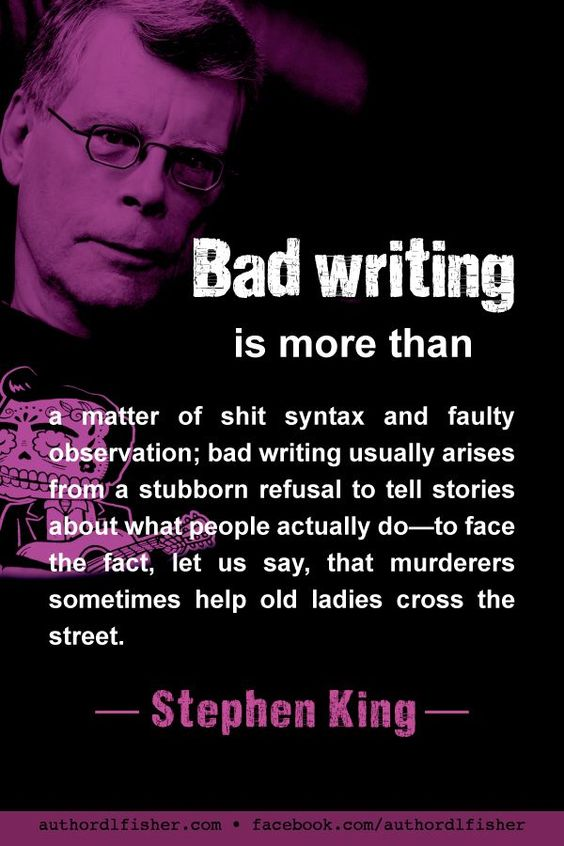 In his usual straightforward manner, Stephen King makes a wise point about the complexity of human character. #StephenKing #WritingInspiration #WritingTip #author_quote #how_to_write