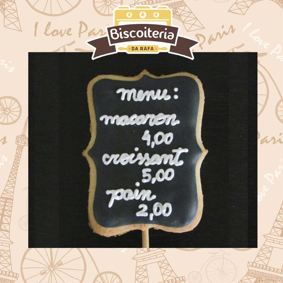 Biscoitos de menu / menu cookies