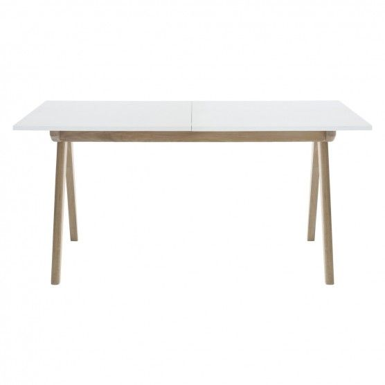 JERRY 4-8 seater white extending dining table | White extending ...