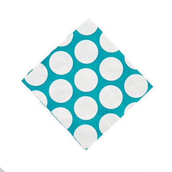 Turquoise Large Dot Napkins