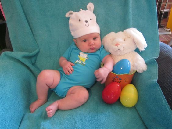3 month old's first Easter.