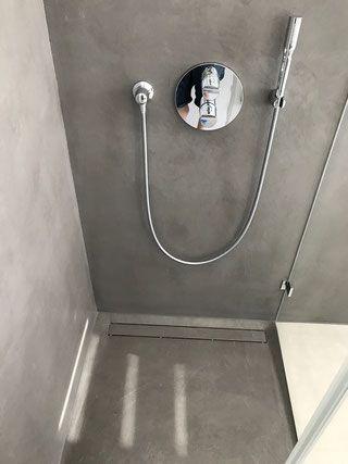 Dusche Ohne Fliesen Mineralischer Putz Badezimmer Alte Fliesen