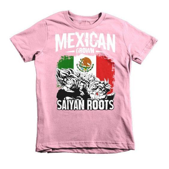 Super Saiyan MEXICAN Grown SAIYAN ROOTS Kid Shirt - PF00156KS