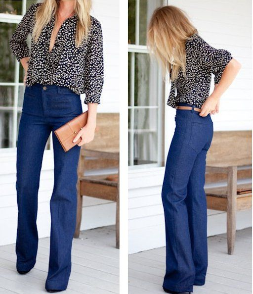 WANT: High-waist, wide-leg jeans | Trousers, Pants and Seattle