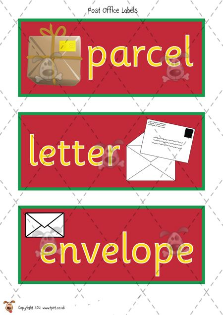 Post Office/Writing Theme Word Wall Cards by Clip Art by Carrie ...