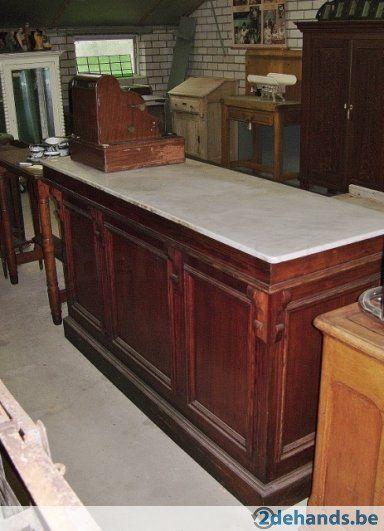 Keuken keuken toonbank : oude toonbank met wit blad - keuken ...