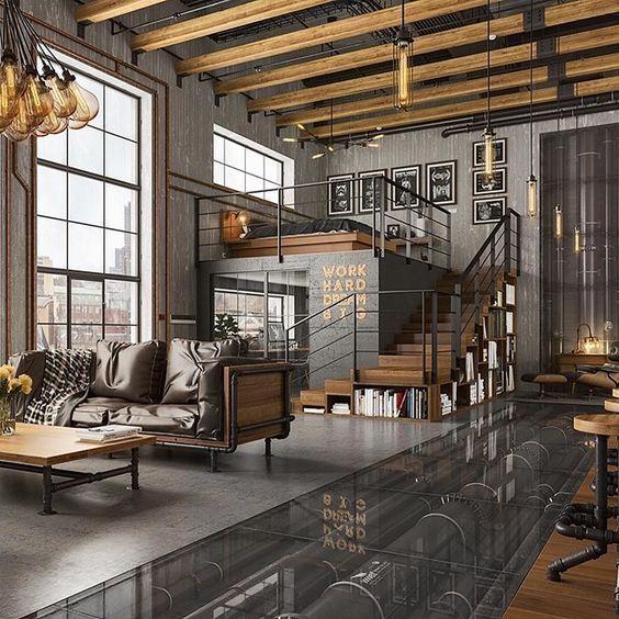 Loft Goals Loft Inspiration Industrial Home Design Dream Living Rooms