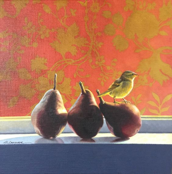 SHARON COSGROVE. Three Pears, Yellow Bird
