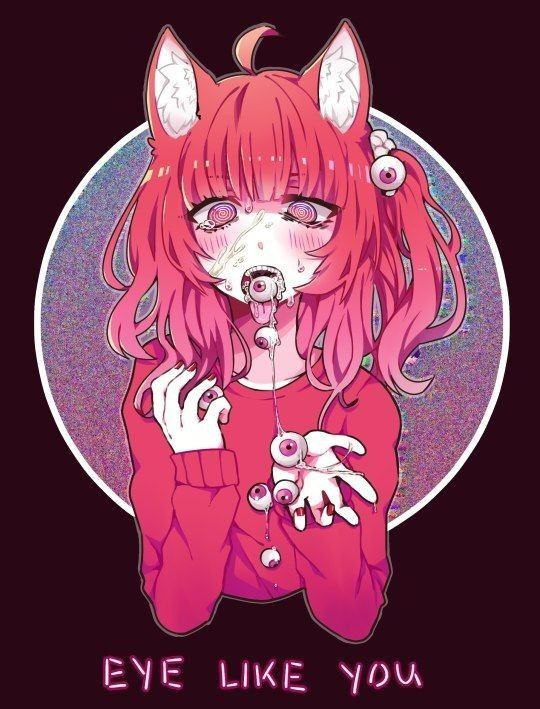 Pastel Gore Anime Girl